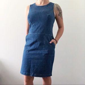 Boden Denim Jean Sheath Dress Size 8L